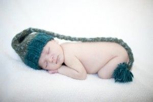 a sleeping newborn baby
